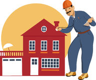 inspector-clipart-home-inspector-building-examining-house-stethoscope-vector-illustration-41769704